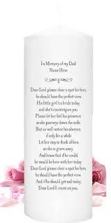 In Memory Of Wedding Program In Loving Memory Of Dad Candle Personalized Memorial By Lapercu