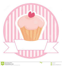 Cherry Cupcake Invitation Card Royalty Cupcake In Pink With White Place For Your Text Royalty Free Stock