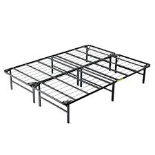 folding metal bed frame canada intellibase lightweight easy set up