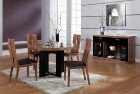 beautiful dark brown wood unique design dining room round table