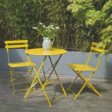 Yellow Patio Chairs Collection In Patio Furniture Bistro Set Decor Concept Sets Dining