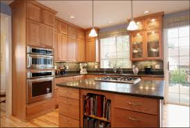 decorating interesting kitchen decoration with glass front