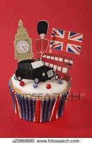 stock photography london themed british celebration cupcake