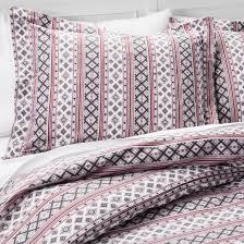 nordic knit 100 cotton flannel duvet set gray target