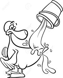 black white cartoon concept illustration water ducks