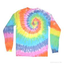 pastel rainbow spiral tie dye long sleeve t shirt rainbow on sale