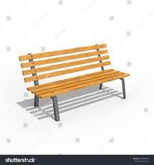wooden oak bench 3d illustration stock illustration 407644816