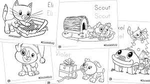 scout u0026 friends winter coloring pack