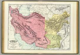 Persia Map Afghanistan Baluchistan Rand Mcnally And Company 1897