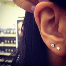second ear piercing earrings ear piercings lipstick alley