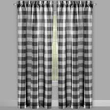 country checkered rod pocket window curtains set of 2 christmas