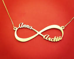 Infinity Necklace With Name View Infinity Necklace By Themonogrammill On Etsy
