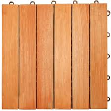 amazon com vifah v169 fsc eucalyptus six slat deck tiles 10