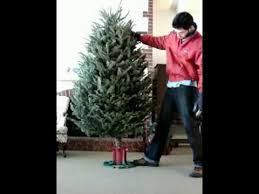 fastest christmas tree stand in the world crazy xmas tree set up