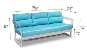 dimensions canapé canapé de jardin aluminium marine de lusso 6047