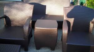 How To Redo Metal Patio Furniture - painting outdoor furniture youtube