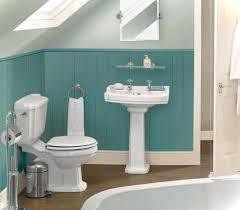 narrow bathroom vanities for attic with blue beadboard wall panel