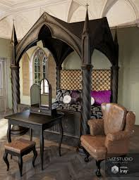 Gothic Living Room Gothic Decor 3d Models And 3d Software By Daz 3d