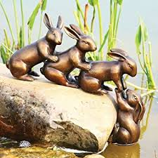 Bunny Rabbit Home Decor Amazon Com Home U0026 Garden Decor Helping Hands Bunny Rabbit