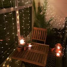 Small Balcony Decorating Ideas Home by Small Balcony Decor Ideas For An Apartment Hanging String Lights