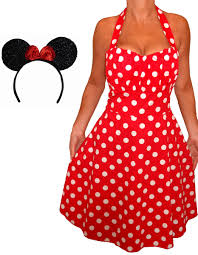 lrs funfash size halloween costume red white dots dress