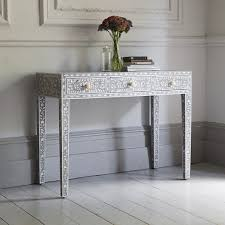 Grey Console Table Classic Of Pearl Dressing Table In Steeple Grey