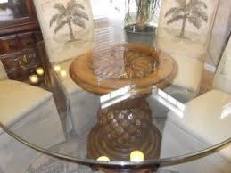 Round Glass Top Dining Table Sets Foter - Round dining table with wicker chairs