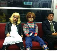 Bride Chucky Halloween Costumes Chucky Bride Spotted Subway Cosplay Chucky