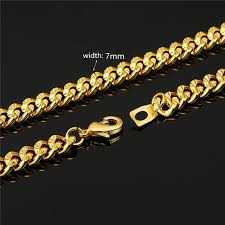 figaro necklace men images Gold color men necklace 5 sizes 5mm trendy long figaro chain jpg
