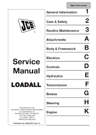 jcb 526 55 telescopic handler service repair manual sn 277468