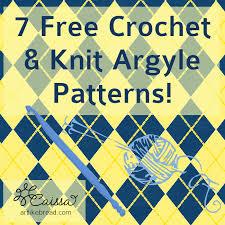 like bread 7 crochet knit argyle patterns for argyle day