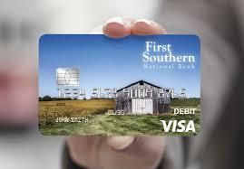 debit card new visa debit card southern national bank