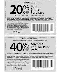 Printable Bed Bath And Beyond Coupon Michael U0027s Printable Coupons 20 Off Your Entire Purchase And 40