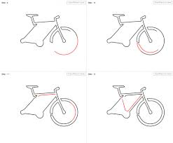 how to draw a bicycle step by step pencil art drawing