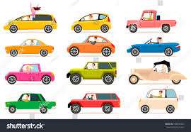 yellow jeep clipart collection isolated vector icons vehicles private stock vector