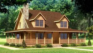 Home Plans With Wrap Around Porch Beaufort Log Home Plan Southland Log Homes Https Www