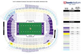 map us bank stadium vikings fans secure more than 45 000 seats at u s bank stadium