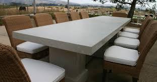 concrete top outdoor table impressive concrete patio furniture custom contemporary outdoor for