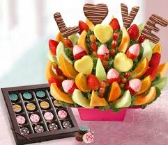 fresh fruit bouquets fruit bouquets by 1800flowers and chocolate works team up to