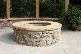 Firepit Stones Stacked Firepit With Flagstone Cap Fireplaces And Firepits