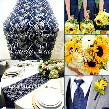 Navy Blue Lace Table Runner Blue Table Runner U2013 Atelier Theater Com