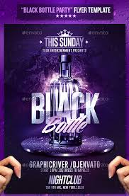 black bottle party psd flyer template new clean psd file very