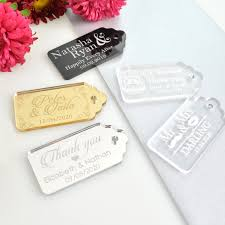 engraved acrylic gift tags personalized favors
