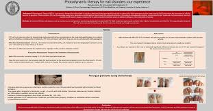 photodynamic therapy for nail disorders our experience 4th