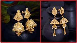 buttalu earrings 22k gold jhumkas buttalu designs with weight gold jewellery