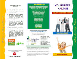 Volunteer Brochure Template by Wpprint Ca Volunteer Halton Community Development Halton Brochure
