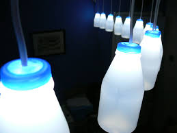 addressable milk bottles led lighting arduino milk bottles