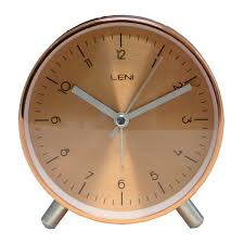 buy leni table alarm clock copper online purely wall clocks