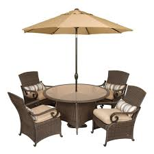 Patio Furniture Set With Umbrella - lake como patio collection la z boy outdoor furniture