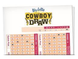 wyoming cowboy draw u0026 winning numbers how to play